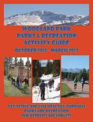 parks and recreation - City of Woodland Park