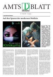 Auf den Spuren der modernen Medizin - Dessau-Roßlau