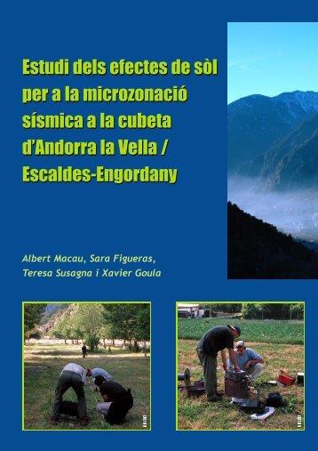 Estudi dels efectes de sòl per a la microzonació sísmica a la cubeta ...