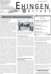 Wenn es... • professionell • qualitativ hochwertig ... - Stadt Ehingen