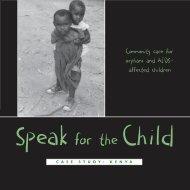 Speak for the Child - Kenya case study
