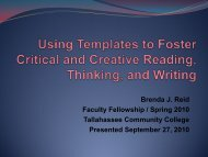 Brenda Reid Presentation.pdf - Tallahassee Community College