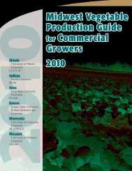 Midwest Vegetable Production Guide for Commercial Growers 2010