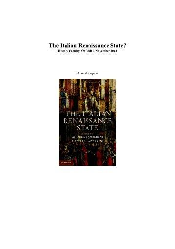 The Italian Renaissance State? - Medium Aevum