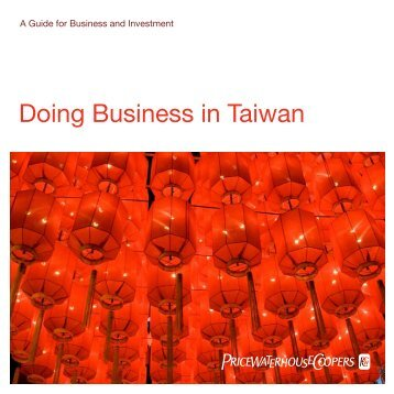 Doing Business in Taiwan - Awex
