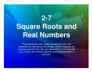 2-7 Square Roots and Real Numbers - Mona Shores Blogs