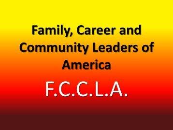 FCCLA is - Vidor Independent School District