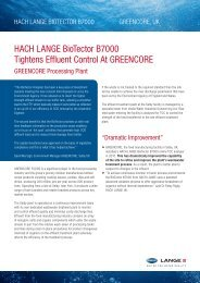 BioTector B7000 tightens effluent control at Greencore - HACH LANGE