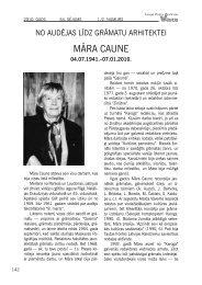mĀra CaunE - Latvijas Zinātņu Akadēmija