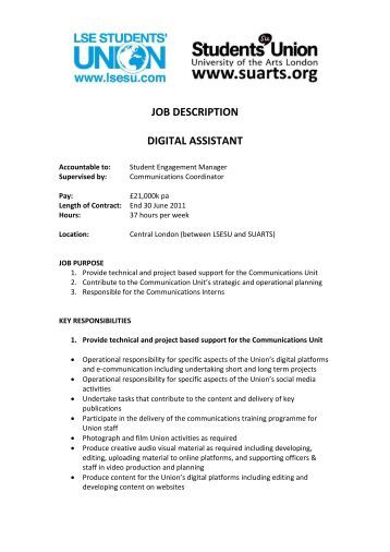 Job description pa to chief executive office manager charityjob - Assistant office manager job description ...