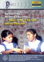 Barrier Free InclusiveEducation..... - Ali Yavar Jung National Institute ...