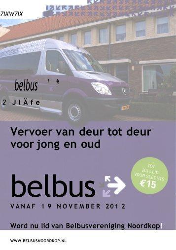 belbus ' * - Senioren Hollands Kroon