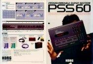 PSS60 brochure - Korg Forums