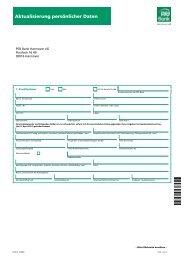Aktualisierung persönlicher Daten - PSD Bank Hannover eG