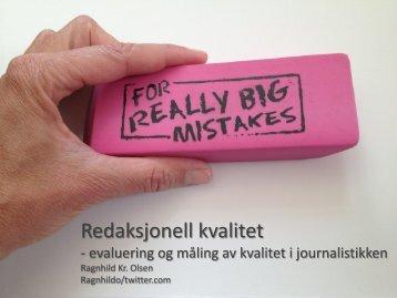 Redaksjonell kvalitet - Ranghild Olsen