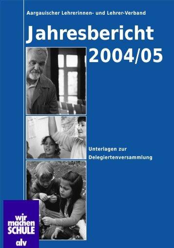 Jahresbericht 2004/05 - alv