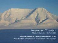 Longyearbyen CO2-project - CO2Geonet