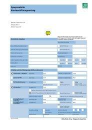 Sparprodukte Kontoeröffnungsantrag - PSD Bank Hannover eG