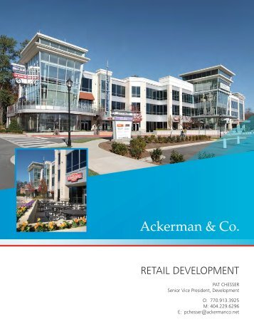 Retail development - Ackerman & Co.