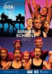 SUMMER SCHOOLS 2012 - Guildford School of Acting
