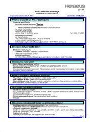 Darba drošības instrukcija 1 Vielas/ preparāta un firmas ... - Heraeus