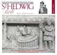 Advents- Samstage Stammhaus bis 16 Uhr geöffnet - St. Hedwig