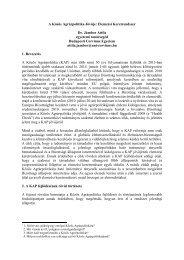 A Közös Agrárpolitika Jövője - Új Magyarország Vidékfejlesztési ...