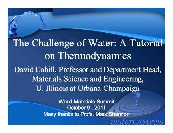 A Tutorial on Thermodynamics - University of Illinois at Urbana ...