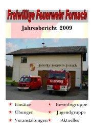 Jahresbericht der FF 2009
