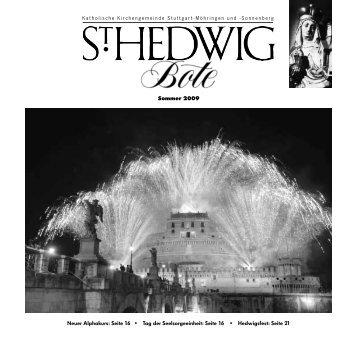Neuer Alphakurs: Seite 16 • Tag der Seelsorgeeinheit ... - St. Hedwig
