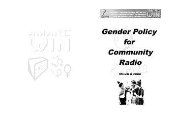 Gender Policy for Community Radio - amarc
