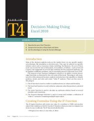 T4 Decision Making Using Excel 2010