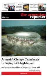 Armenia's Olympic Team heads to Beijing with high hopes
