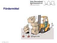 Fördermittel Glücksspirale - Kreis-Chorverband Bad Kreuznach