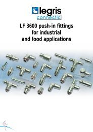 LF 3600 push-in fittings for industrial and food applications