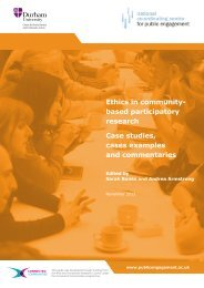 Ethics in community- based participatory research Case studies ...