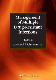 Management of Multiple Drug-Resistant Infections