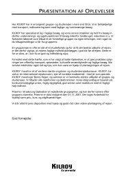 PRØSENTATION AF OPLEVELSER - KILROY groups
