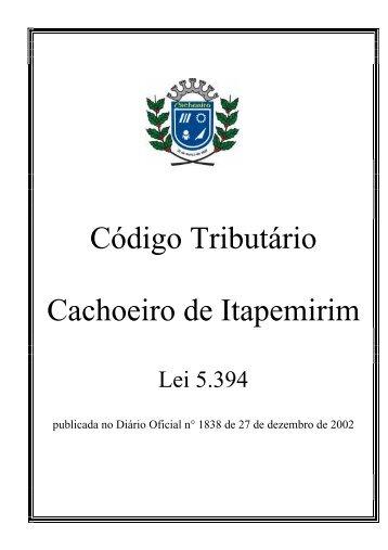Código Tributário Municipal (D.O. 1838,27/12/2002) - Prefeitura de ...