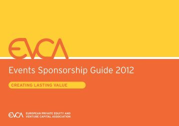 Events Sponsorship Guide 2012 - EVCA