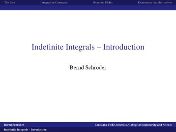 WORKSHEET: An application of the indefinite integral MATH 1300 ...