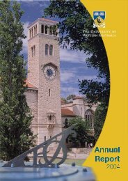 Untitled - Annual Report 2004 - The University of Western Australia