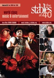 world class music & entertainment - The Stables
