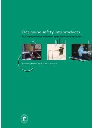 Designing safety into products - DTI Home Page