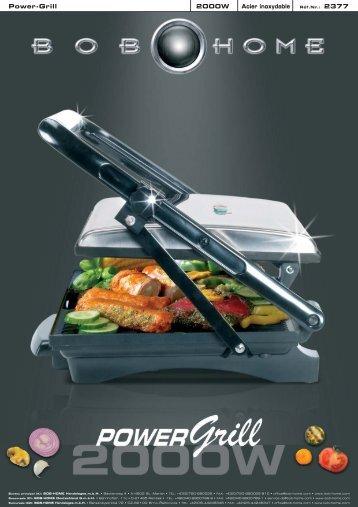 Power-Grill 2000W Acier inoxydable - BOB HOME