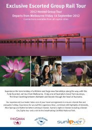 Exclusive Escorted Group Rail Tour - Sunlover Holidays