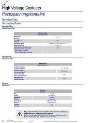 Hochspannungskontakte High Voltage Contacts - FCT