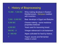 History of Bioprocessing - CMBE