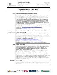 Nyhedsbrev – Juli 2005 - Idrætssamvirket Århus