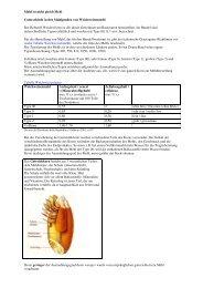 Mehl ist nicht gleich Mehl Unterschiede in den ... - Nutrition4U